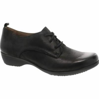 ダンスコ DANSKO レディース ローファー・オックスフォード シューズ・靴 Finola Oxford Black Leather