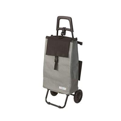 レップ ショッピングカート 保冷/保温 折りたたみ式 容量40L 軽量 ココロバイカラー グレー/ブラック 496909