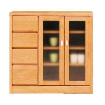 リビング収納 サイドボード 幅90cm リビングボード 国産 収納家具 キャビネット ガラス ガラス戸 キッチンカウンター 開戸