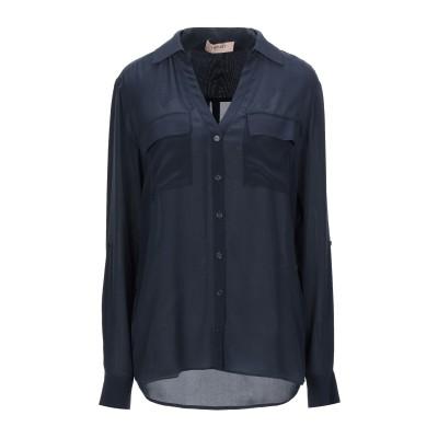 ツインセット シモーナ バルビエリ TWINSET シャツ ダークブルー 42 シルク 100% シャツ
