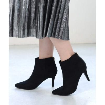 AmiAmi / ピンヒールバックジップショートブーツ/8cmヒール/ポインテッドトゥ WOMEN シューズ > ブーツ