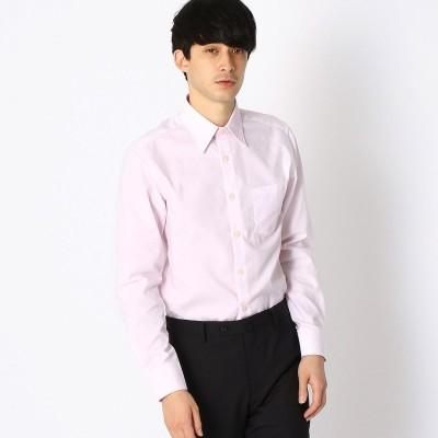コムサイズム COMME CA ISM 《イージーケア・抗菌防臭加工》 市松柄 レギュラーカラーシャツ (ピンク)