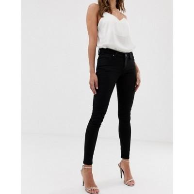 エイソス レディース デニムパンツ ボトムス ASOS DESIGN Whitby low rise skinny jeans in clean black