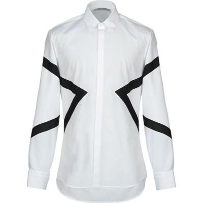 ニール バレット NEIL BARRETT メンズ シャツ トップス Solid Color Shirt White