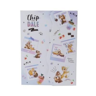 ダイカットカバー付き メモ メモ帳 ディズニー チップ&デール カミオジャパン 100枚綴り キャラクター