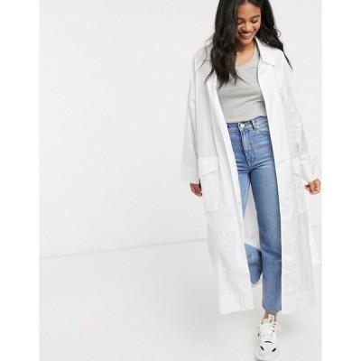 エイソス レディース コート アウター ASOS DESIGN taffeta trench coat in white White