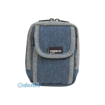 あすつく対応 「直送」 トラスコ中山  TDCH101 TRUSCO デニム携帯電話用ケース 2ポケット ブルー TDC-H101