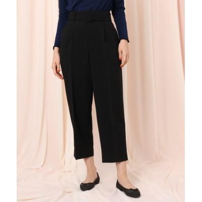【クチュールブローチ】 ベルテッドワイドパンツ レディース ブラック 40(L) Couture Brooch