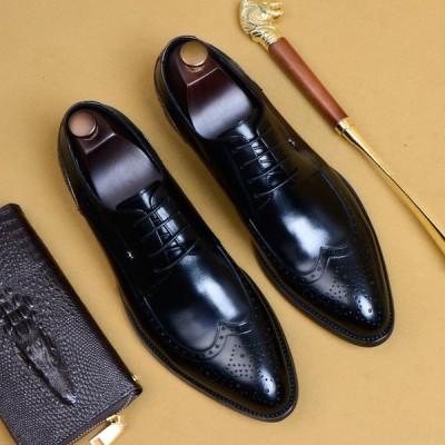 紳士 ★新品★人気★高級★ 手工細作 メンズ ビジネスシューズ 男性用 靴 レザー 本革 人気新作