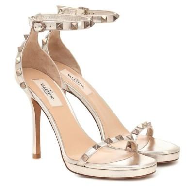 ヴァレンティノ Valentino レディース サンダル・ミュール シューズ・靴 Garavani Rockstud leather platform sandals Skin