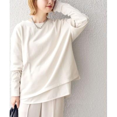 SHIPS for women / ウラケ×ロンTEE コンビトップス◆ WOMEN トップス > Tシャツ/カットソー