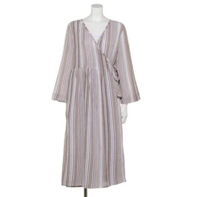 artipur (アルティプール) レディース マルチストライプYD2wayドレス ベージュ M