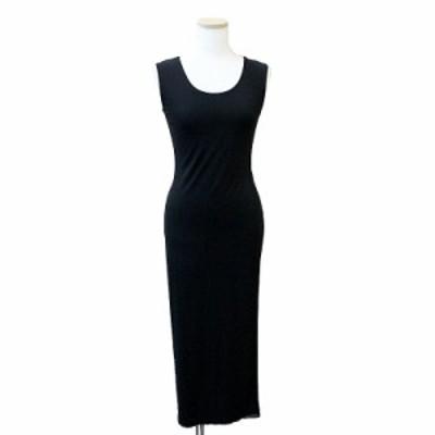 (美品)フォクシー ニューヨーク ロングスリットドレス ブラック 40