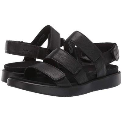 エコー Flowt 3 Strap Sandal レディース サンダル Black Cow Leather