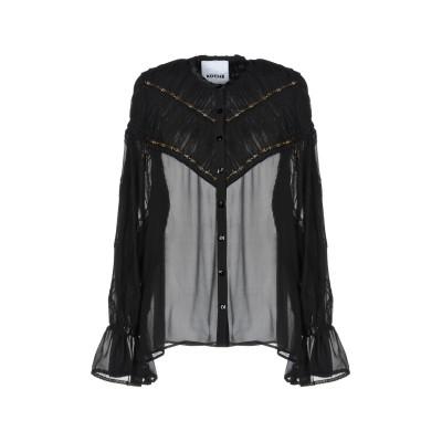 コシェ KOCHÉ シャツ ブラック 36 シルク 100% シャツ