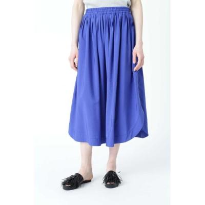 【アドーア】 モダールエステルスカート レディース ブルー 38 ADORE