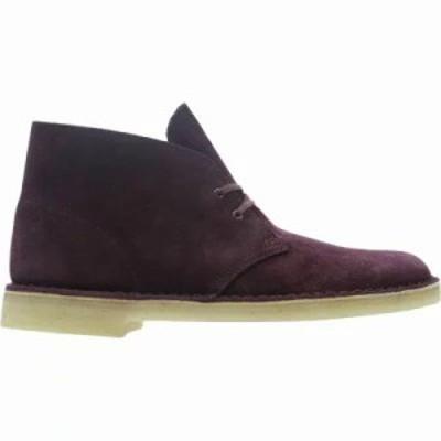 クラークス ブーツ Desert Boots Bordeaux Suede