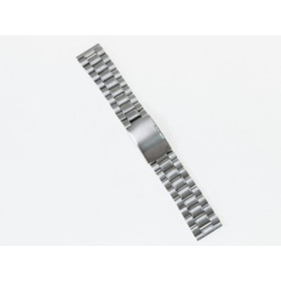 汎用 ステンレス製 腕時計 ベルト ブレスレット バンド Dバックル 交換用 24mm#シルバー 送料込