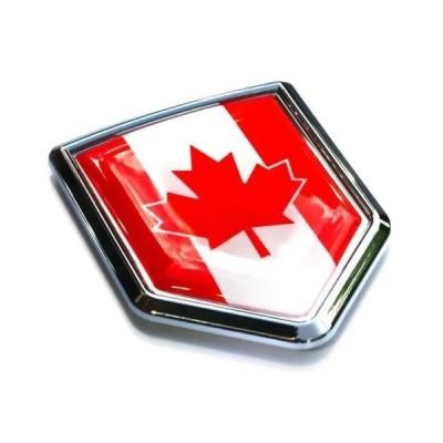 車クロームデカールcbshd037?Canadaカナダ国旗エンブレムクローム車デカールステッカー3dバッジフードバンパー