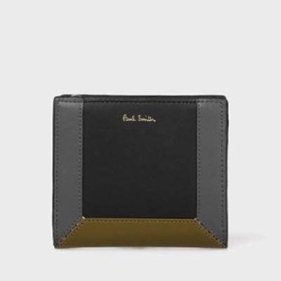ポールスミス 折財布 ミニ財布 コントラストカラーブロック ブラック Paul Smith