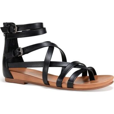 サンストーン Sun + Stone レディース サンダル・ミュール シューズ・靴 Charley Gladiator Flat Sandals Black