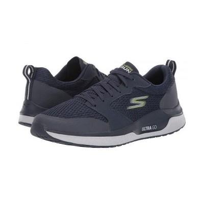 SKECHERS スケッチャーズ メンズ 男性用 シューズ 靴 スニーカー 運動靴 Go Run Steady - Navy/Lime