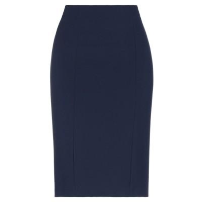 CARACTÈRE ひざ丈スカート ダークブルー 48 トリアセテート 67% / ポリエステル 33% ひざ丈スカート