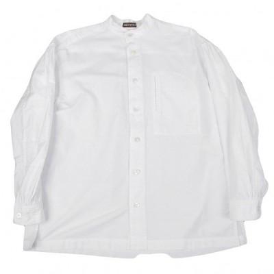 イッセイミヤケ メンISSEY MIYAKE MEN 胸横ポケットコットンスタンドカラーシャツ 白L 【メンズ】