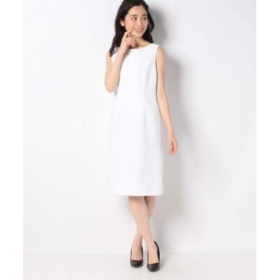 JOCONDE ROYAL/ジョコンダロイヤル ツィード ドレス ホワイトA 42