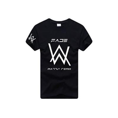 Bling Cat 男女兼用 Tシャツ クルーネック シンプル スポーツウェア カジュアル オシャレ ファッション 半袖 (ブラック S)