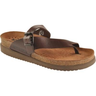 メフィスト Mephisto レディース サンダル・ミュール シューズ・靴 Helen Sandal Dark Brown Waxy
