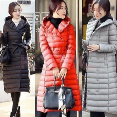 レディースダウンコート レディースコート アウター 軽量 防風 防寒 大きいサイズ ロングコート フード付き ダウンコート 長袖コート ロ