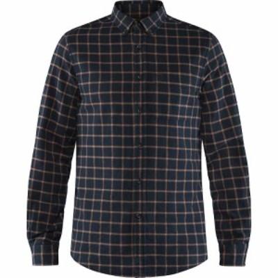 フェールラーベン Fjallraven メンズ シャツ フランネルシャツ トップス Ovik Flannel Shirt Dark Navy