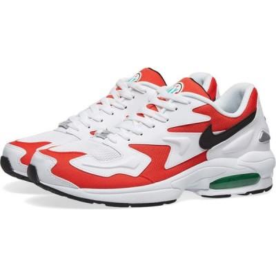 ナイキ Nike メンズ スニーカー エアマックス 2 シューズ・靴 Air Max 2 Light White/Black/Red/Green