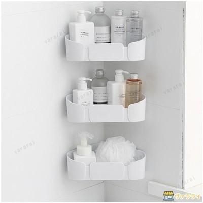 2点セット浴室穴あけ要らない  粘着  たらい掛け 多機能貼り付き式収納台 防水防潮洗面用品 多機能ラック タワー バスルーム