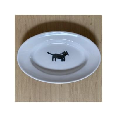 トラネコボンボン 皿 ネコの楕円皿(小) 倉敷意匠 食器