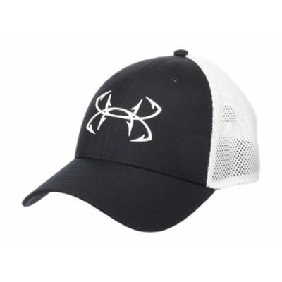 アンダーアーマー メンズ 帽子 アクセサリー Fish Hook Stretch Cap Black/White/Whi