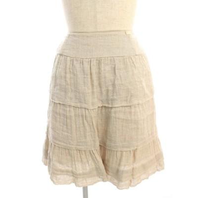 フォクシーブティック スカート 34125 Skirt Linen Whip ワンポイント 38