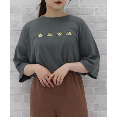 tシャツ Tシャツ 【レディーライクアイテム】喜怒哀楽ガール刺繍Tシャツ