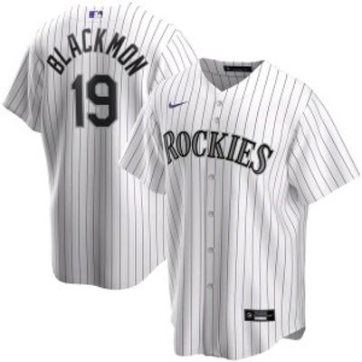 ナイキ メンズ Tシャツ トップス Charlie Blackmon Colorado Rockies Nike Home 2020 Replica Player Jersey  White