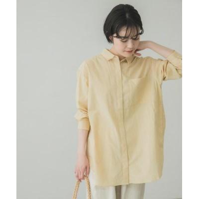 (KAGURE/カグレ)草木染オーガニックコットンシャツ/レディース YELザクロ