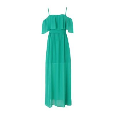 REBEL QUEEN by LIU •JO ロングワンピース&ドレス グリーン 40 ポリエステル 100% ロングワンピース&ドレス