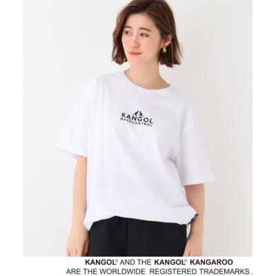 【ベースステーション】 別注 KANGOL / カンゴール 半袖 Tシャツ レディース アイボリー 99(FREE) BASE STATION