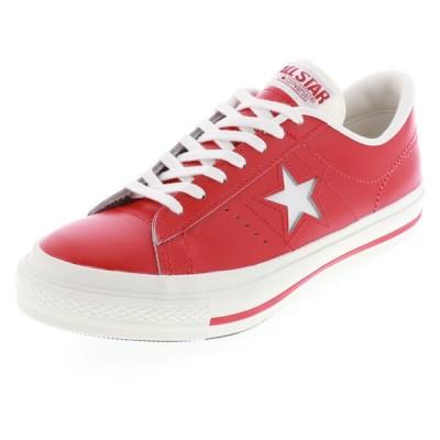 コンバース CONVERSE メンズ スニーカー ワンスター ジェイ ローカット ONE STAR J RED レザー JAPANモデル レッド 赤