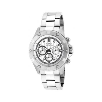 腕時計 インヴィクタ Invicta Specialty クロノグラフ シルバー ダイヤル メンズ 腕時計 15602