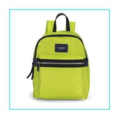 Nautica Armada Formation Top Handle Backpack with Large Front Zipper Pocket, Lime【並行輸入品】