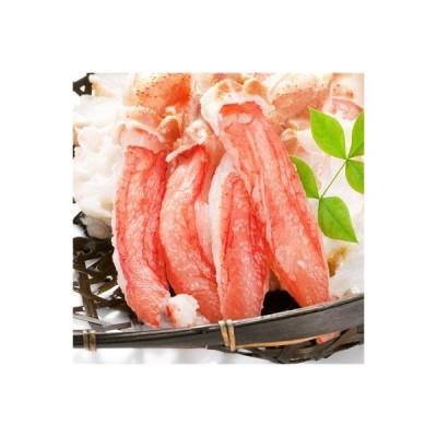 北海道ブランド4L ズワイガニ 爪下 ポーション(最高級 カット済み 特大)1kg 40本前後 つめ下 生剥き身(蟹しゃぶ 蟹鍋どさんこファ