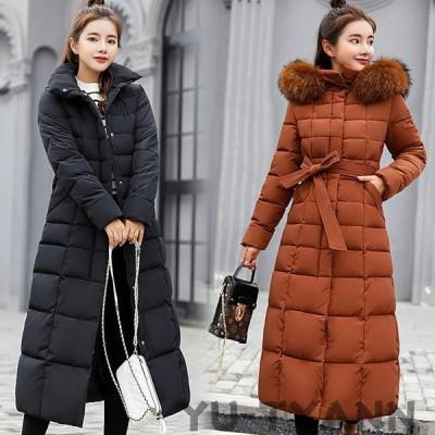 ダウンジャケット レディース ダウンコート レディース フード付き 中綿 ロングコート 厚手 アウター 暖かい 防風防寒 冬服 冬物