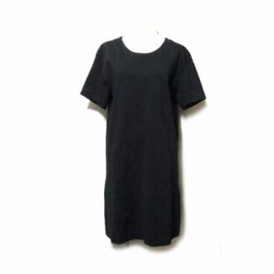 JIL SANDER ジルサンダー イタリア製 プレーンワンピース (黒 ドレス 半袖) 118895 【中古】