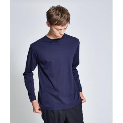 ABAHOUSE / シルケットスムース ネックポイントロングTシャツ MEN トップス > Tシャツ/カットソー